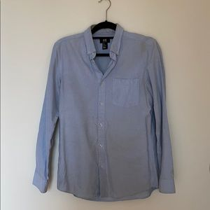H&M Light Blue Button Down Dress Shirt
